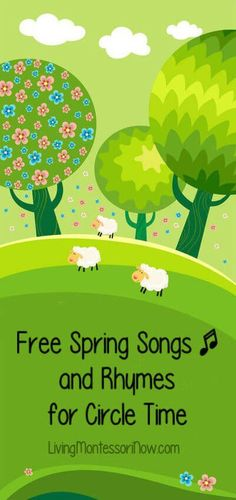 Who doesn't love spring? Today, I'm adding lots of spring songs and rhymes to my series of free songs and rhymes for circle time. Preschool Music, Music Activities, Spring Activities, Music Games, Preschool Classroom, In Kindergarten, Preschool Activities, Spring Songs For Preschool, Classroom Ideas