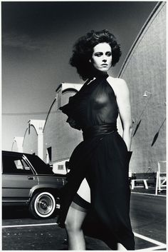 Sigourney Weaver on the Warner Bros. Lot, Burbank, Helmut Newton,1983