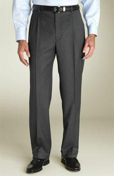 Zanella 'Bennett' Double Reverse Pleat Trousers | Nordstrom Mens Pleated Trousers, Men Trousers, Men Pants, Saks Fifth Avenue, Classic Looks, Clothing Items, Menswear, Nordstrom, Mens Fashion