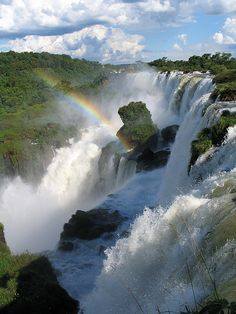 OK, I've actually been here, but I need to go back - Iguazu Falls on the Brazil/Argentina border. Amazing.
