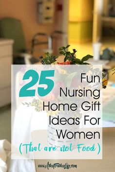 When my husband's Mom went into the nursing home, I realized that bringing care packages and gifts to her was a great way to help an elderly woman adapt to a place she really didn't Gifts For Elderly Women, Gifts For Women, Gifts For Seniors Citizens, Nursing Home Gifts, Nursing Homes, Christmas Care Package, Elderly Care, Assisted Living, Care Packages