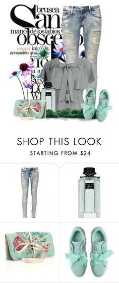 """""""Bow Sneakers"""" by dicabria ❤ liked on Polyvore featuring November, Gucci and Monsoon"""