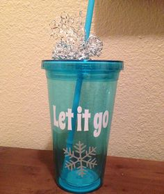 Let It Go DISNEY Inspired TUMBLER Disney Frozen Drinkware Christmas by RKCreativeImpression