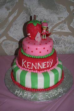 My daughter's Strawberry shortcake cake