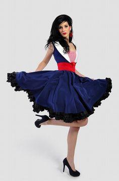 Rockabilly Navy Sailor Dress: vintage stijl / pin-up / rockabilly sailorgirl jurk van TiCCi Rockabilly Kleding Rockabilly Outfits, Rockabilly Fashion, Rockabilly Clothing, Rockabilly Girls, Rockabilly Style, Punk Fashion, Lolita Fashion, Woman Fashion, Fashion Boots