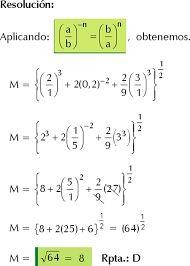 Resultado de imagen para potencia de exponente negativo en fracciones