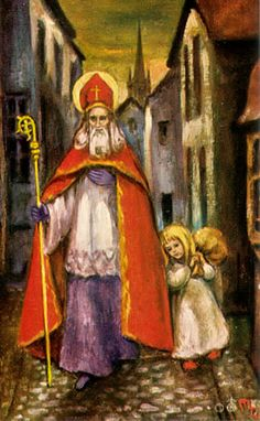 German holy card, St. Nicholas Center Collection