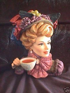 Cameo Girls~Sasha1898~Victorian Tea Party Head Vase
