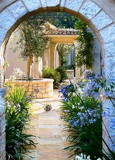 Nice 47 lovely mediterranean garden design ideas for your backyard