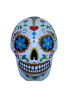 BZB Goods 4 Foot Halloween Inflatable Colorful Sugar Skull Decoration *** This is an Amazon Affiliate link. You can get additional details at the image link.