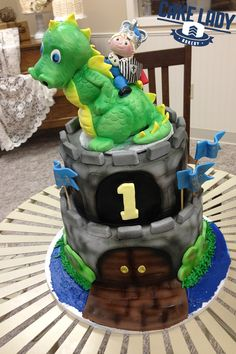 Dragon First Birthday Cake
