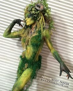 It's National Forest Day Bodypainte It's National Forest Day B. - It's National Forest Day Bodypainte It's National Forest Day Bodypainte - Forest Creatures, Weird Creatures, Woodland Creatures, Mythical Creatures, Woodland Fairy, Forest Fairy, Dryad Costume, Wood Nymphs, Theme Nature
