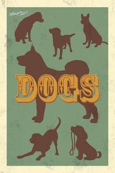 Dog Retro Style Poster