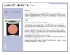 Motives Pressed Blush has a soft and luxurious texture that can be worn on all skin types, helping skin look renewed, naturally healthy and flawless. http://www.motivescosmetics.com/gracechangeslifestyles/product/motives-pressed-blush?id=191MB&skuName=motives-pressed-blush-sun-goddess&idType=sku