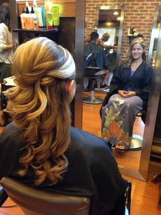 Mostly down updo to the side wedding hair #hairstyles by Joanne jostyles479 @ aol