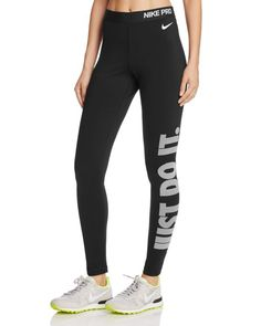Go pro with the Nike Pro leggings, a perfect-fit pair that features the label's motivational mantra down the leg. | Polyester/spandex | Machine wash | Imported | Fits true to size, order your normal s