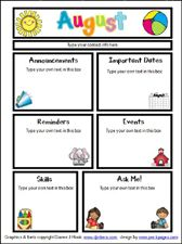 August Printable Newsletter for All Grades!! | The Crafty Teacher ...