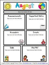 September Printable Newsletter    ALL GRADES! | The Crafty Teacher |  Preschool Ideas | Pinterest | September, Teacher And School