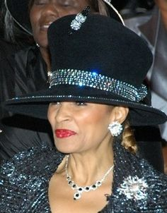 Black with Crystals | Sunday Best...Church Hats | Pinterest