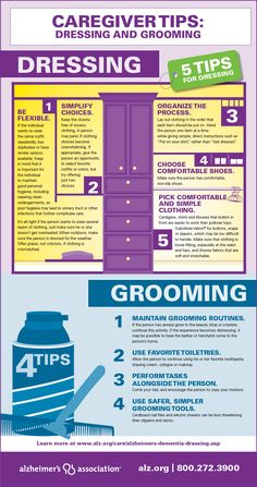 Helping a person with dementia maintain his or her appearance can be challenging. Here are some helpful tips to make dressing and grooming a bit easier. #dementia #caregiver #seniors Repinned by SOS Inc. Resources @Christina Childress & Porter Storage & Organisation Solutions Storage & Organisation Solutions Inc. Resources.