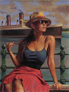 England artist Peregrine Heathcote's entry, The Best Is Yet To Come, won an honorable mention award in this year's competition Art Deco Posters, Vintage Posters, Illustrations Vintage, Illustration Art, Vladimir Volegov, Florence Academy Of Art, Jack Vettriano, Paint Photography, Damien Hirst