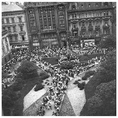 Hlavné námestie, rok 1964 Bratislava, Times, Country, Google, Photography, Travel, Photograph, Viajes, Rural Area