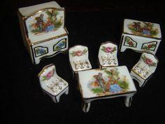 PORCELAINE DE LIMOGES SALLE A MANGER MIGNATURE - doll miniature ceramics !!
