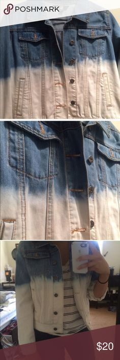 Denim jacket from pacsun Lue denim jacket with acid wash, great condition! Super thick material, good quality denim :) purchased at Pacsun Lue Jackets & Coats
