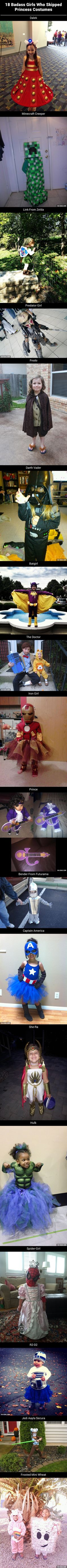 18 Girls Who Skipped Princess Costumes. Just because this is awesome. I love the frosted mini wheat.