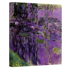 Wrapped canvas print of Claude Monet's Lavender Water Lilies. Made in the USA.  Product: Wall artConstruction Material: Canvas and woodFeatures:  Reproduction of Lavender Water Lilies by Claude MonetMade in the USA