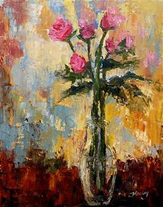 Roses by Judy Mackey | oil painting | Ugallery Online Art Gallery