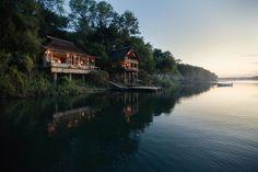 Tongabezi is a luxury safari lodge near Victoria Falls in Zambia. This award winning lodge is a romantic hideaway on the banks of the Zambezi River. Chutes Victoria, Honeymoon Style, Destinations, Largest Waterfall, Travel Expert, Victoria Falls, Beautiful Hotels, Luxury Travel, Best Hotels