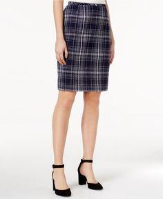 Tommy Hilfiger Tweed Plaid Pencil Skirt - Skirts - Women - Macy's