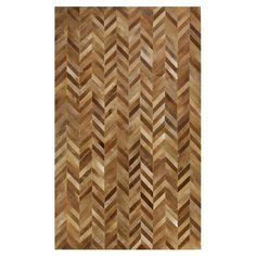 Herringbone Leather rug. Adds warmth, texture and that je ne sais quoi! Artesia Leather Rug $380