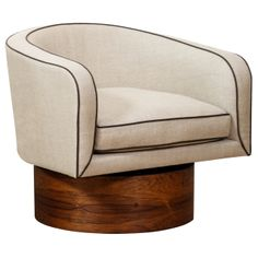 Milo Baughman - Tall Barrel Chair | From a unique collection of antique and modern club chairs at http://www.1stdibs.com/furniture/seating/club-chairs/