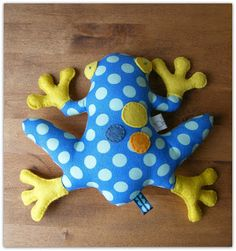 Frog...in blue and yellow
