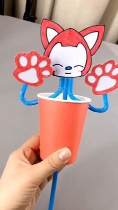 Mothers Day Drawings Discover DIY Crafts for Kids-Funny Fox Ahri-How to Make Fox with Disposable Paper Cup-DIY Tutorial Fun piece & gift for kids. This is a simple DIY tutorial of paper Fox Ahri. Stuck at home? Lets get started! Paper Cup Crafts, Paper Crafts Origami, Paper Crafts For Kids, Craft Activities For Kids, Preschool Crafts, Projects For Kids, Diy For Kids, Diy Projects, Craft Ideas