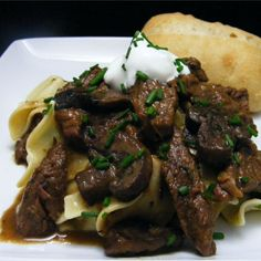"""Chef John's Classic Beef StroganoffI """"This is hands down one of the best beef stroganoff recipes I have had in a long time."""""""