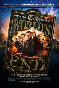 "The third installment of director Edgar Wright's trilogy of comedies starring Simon Pegg and Nick Frost, following the successes ""Shaun of the Dead"" (2004) and ""Hot Fuzz"" (2007). In ""The World's End,"" 20 years after attempting an epic pub crawl, five childhood friends reunite when one of them becomes hellbent on trying the drinking marathon again. They are convinced to stage an encore by Gary King (Simon Pegg), a 40-year-old man trapped at the cigarette end of his teens"