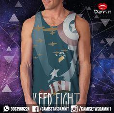 Camisilla Capitan America  https://www.facebook.com/CamisetasDamnit