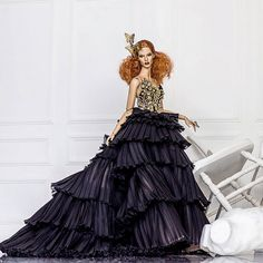 Specially crafted for Italian Doll Convention 2017 charity auction. Available for bidding now at http://www.ebay.com/itm/262960260889?ssPageName=STRK%3AMESELX%3AIT&_trksid=p3984.m1558.l2649   #doll #dollstagram #charity #auction #highfashion #fashion #gothic #editorial #photography #fashiondesigner #fashionphotography