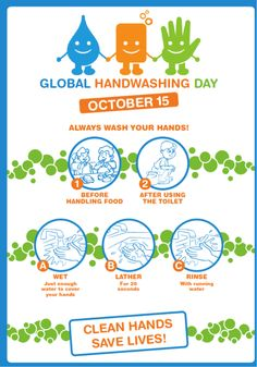 On this Global Handwashing Day, please remember to ALWAYS wash your hands before handling food & after using the toilet!you could get morsels on your hand. Global Handwashing Day, Hand Washing Poster, Body Shop At Home, Pics For Dp, Motivational Picture Quotes, Clean Life, Infection Control, Hand Hygiene, Wishes Images