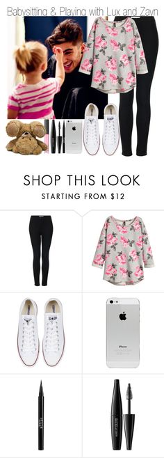 """Babysitting and Playing with Lux and Zayn"" by elise-22 ❤ liked on Polyvore featuring Topshop, H&M, Converse, Stila, MAKE UP FOR EVER, NARS Cosmetics, OneDirection, 1d, zaynmalik and onedirectionoutfits"