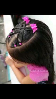Cute Toddler Hairstyles, Easy Little Girl Hairstyles, Old Hairstyles, Baby Girl Hairstyles, Picture Day Hair, Girl Hair Dos, Triangle Hair, French Hair, Curly Hair Styles