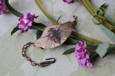 Vintage Victorian Fly Image Cuff Bracelet  by LivyLynnVintique