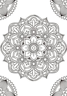 Mandala fleur simple unique doodle art doodle it. Mandala Art, Mandala Design, Mandalas Painting, Mandalas Drawing, Mandala Coloring Pages, Mandala Pattern, Zentangle Patterns, Dot Painting, Colouring Pages