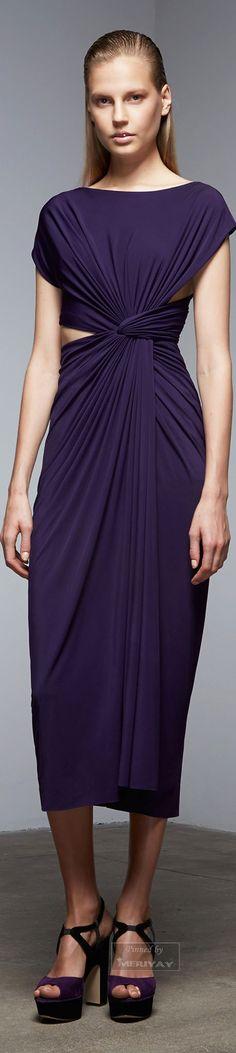 Donna Karan.  Pre-Fall 2015. ~ This stunner simply R-O-C-K-S!  Enough said. ~