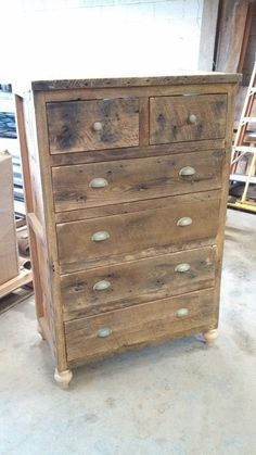 Custom Tall  Rustic Barn Wood Dresser                                                                                                                                                                                 More