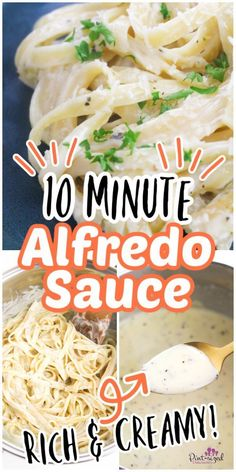 With a few simple ingredients, you can make this amazing Alfredo sauce from Pint-sized Treasures that's ready in only ten minutes! It's super-rich and creamy. Enjoy a homemade Alfredo sauce today over some hot, buttered fettuccine noodles for a culinary adventure!