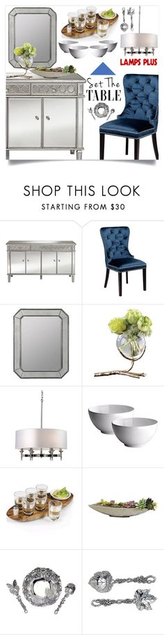 """Set the table!"" by samra-bv ❤ liked on Polyvore featuring interior, interiors, interior design, home, home decor, interior decorating, Universal Lighting and Decor, Cooper Classics, Arthur Court Designs and livingroom"